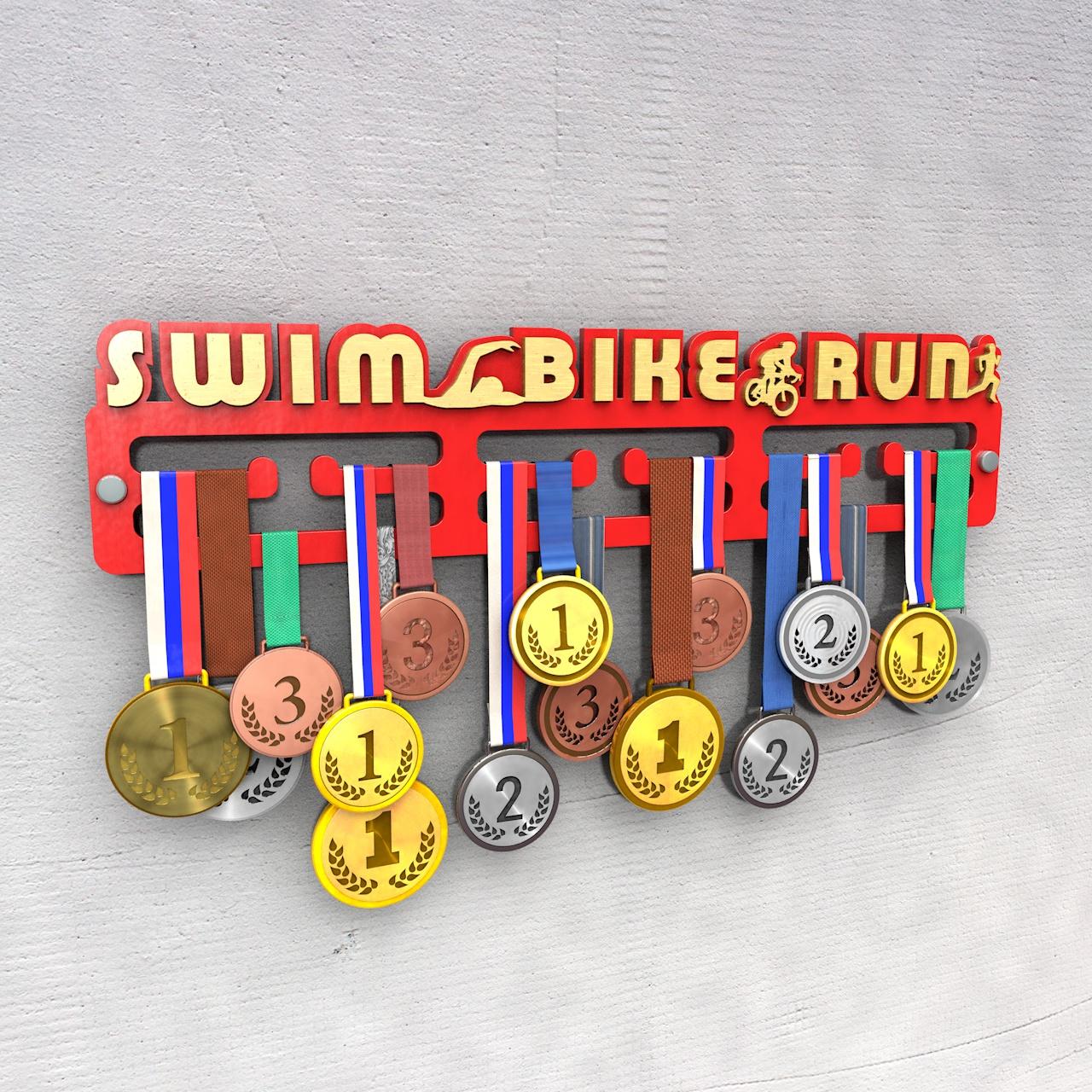 "Медальница ""Swim Bike Run"""
