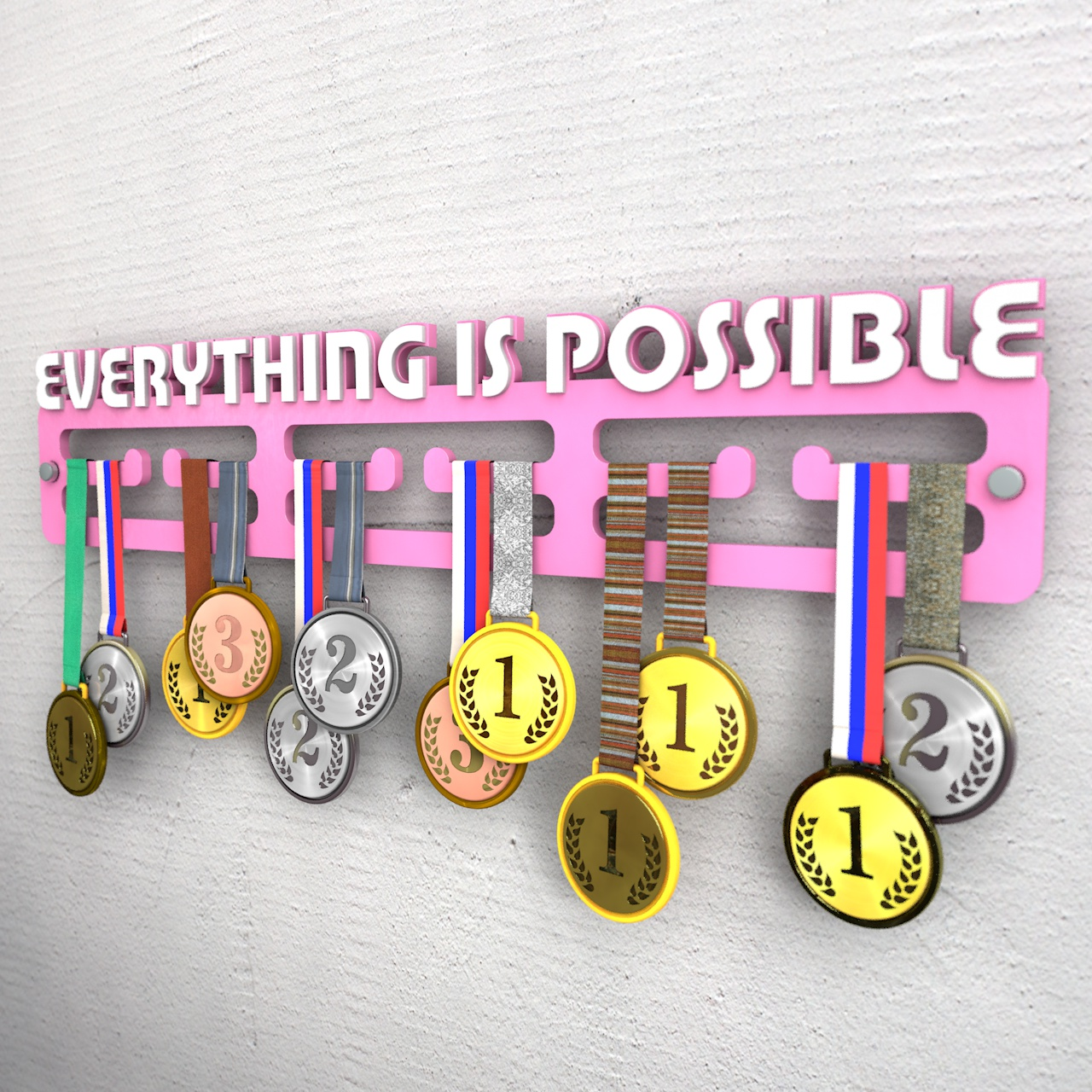 """Медальница """"Everything is possible"""""""