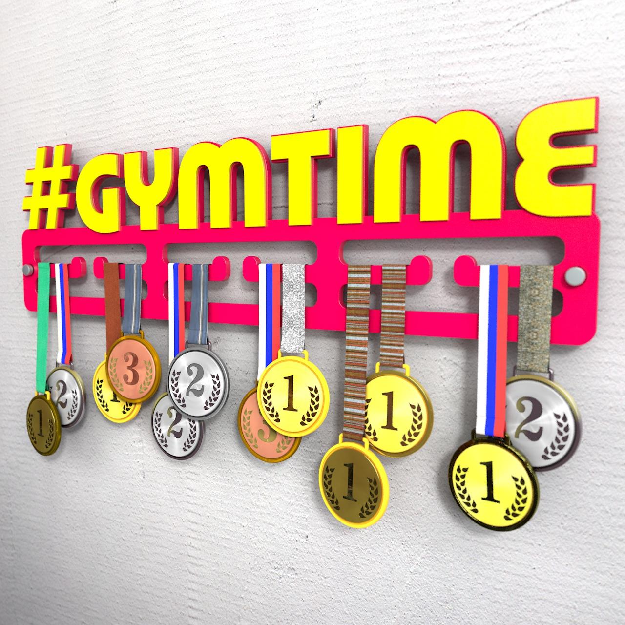 """Медальница с хештегом """"Gymtime"""""""