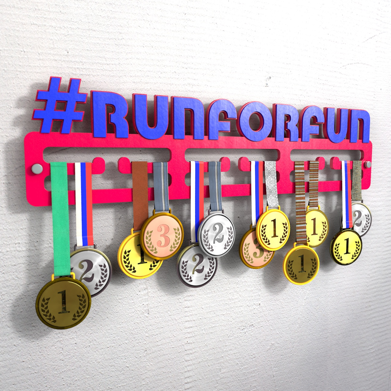 "Медаллер с хештегом ""Runforrun"""