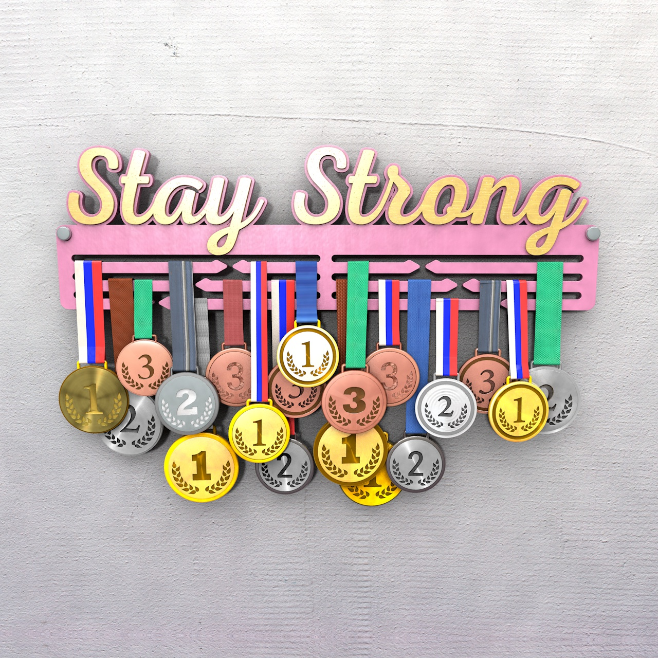"Медальница ""Stay Strong"""