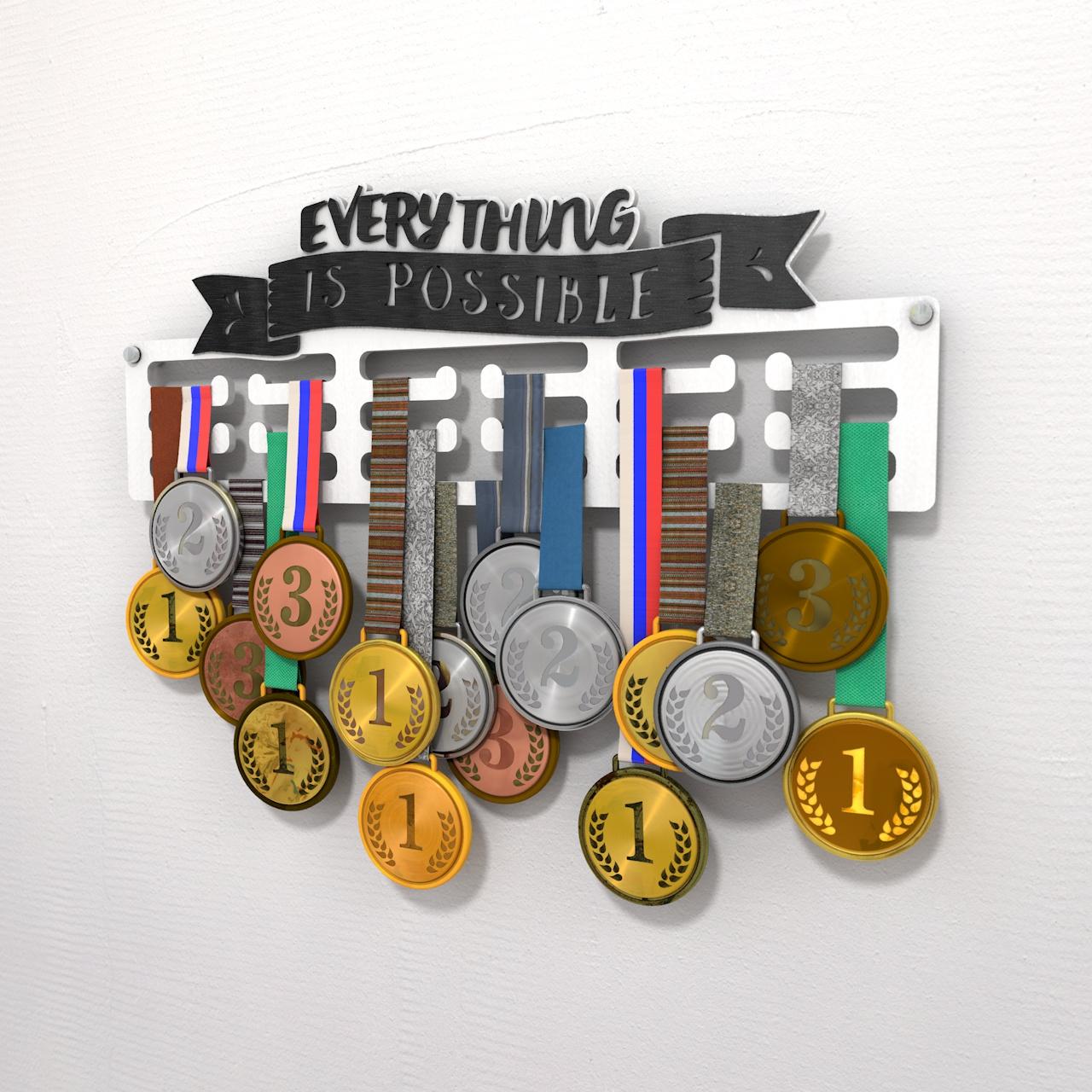 "Держатель для медалей ""Everything is possible"""