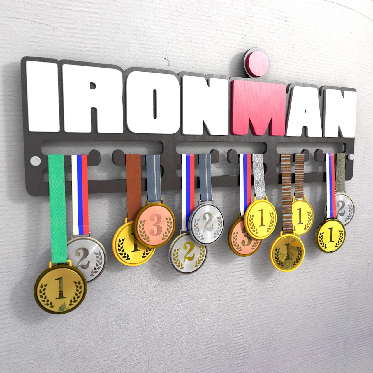 "Медальница ""IRON MAN"", черная"