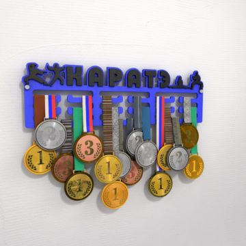 "Медальница ""Каратэ"", синяя"