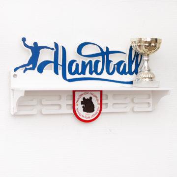 Медальница с логотипом клуба Гандбол, белая